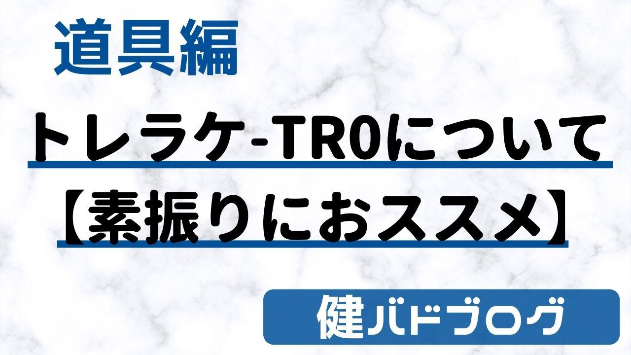 ヨネックス アイソメトリックTR0について【素振りにおススメ】