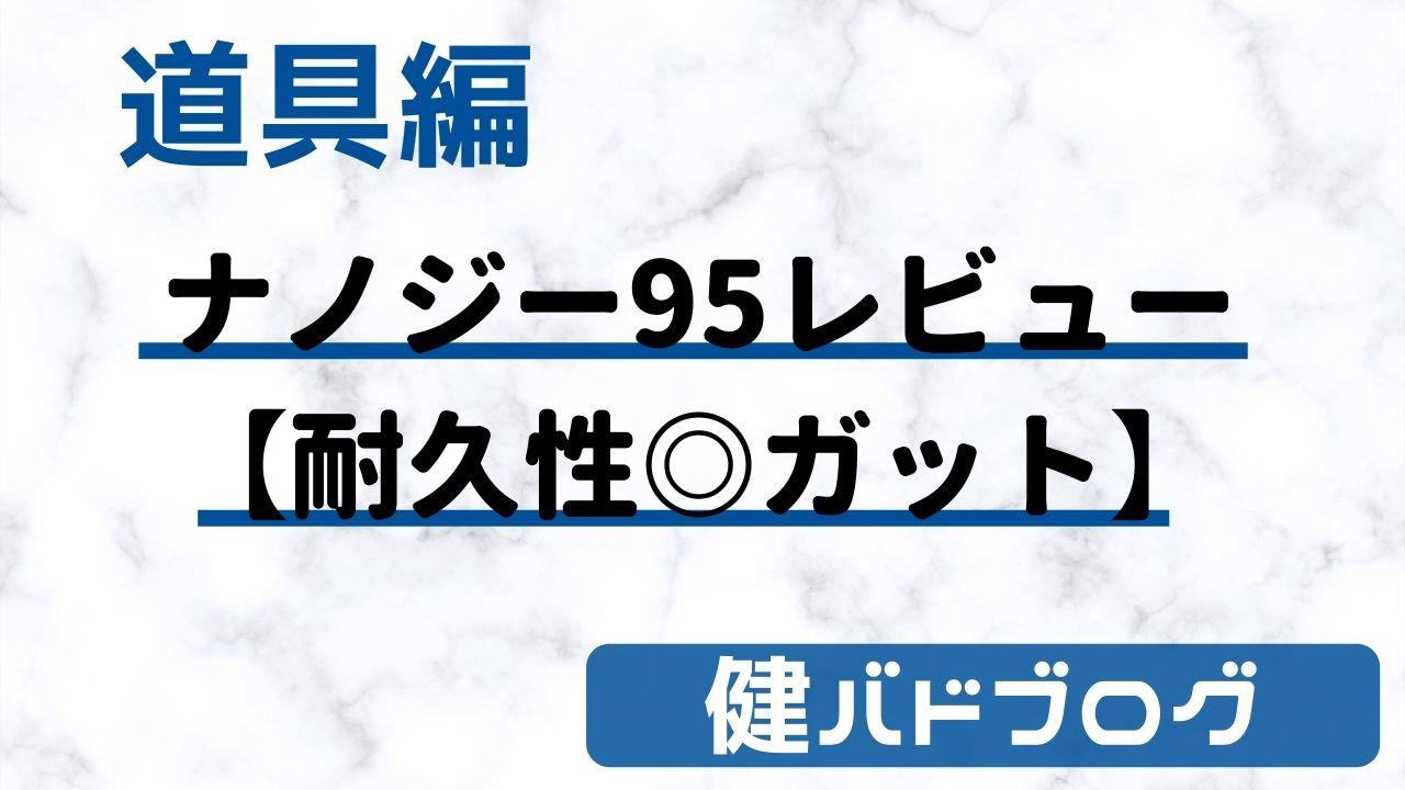 【ヨネックス ナノジー95レビュー】耐久性◎ガット