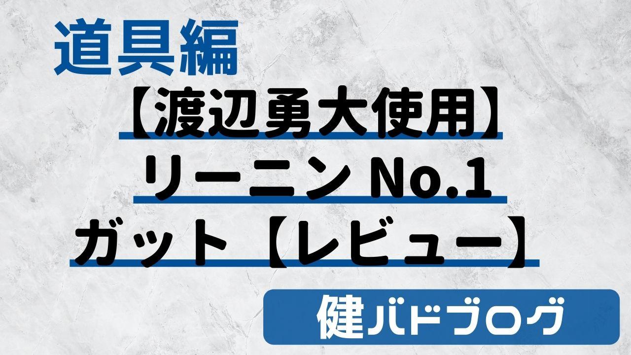 【渡辺勇大使用】リーニン ナンバー1(No.1)バドミントンガット【レビュー】