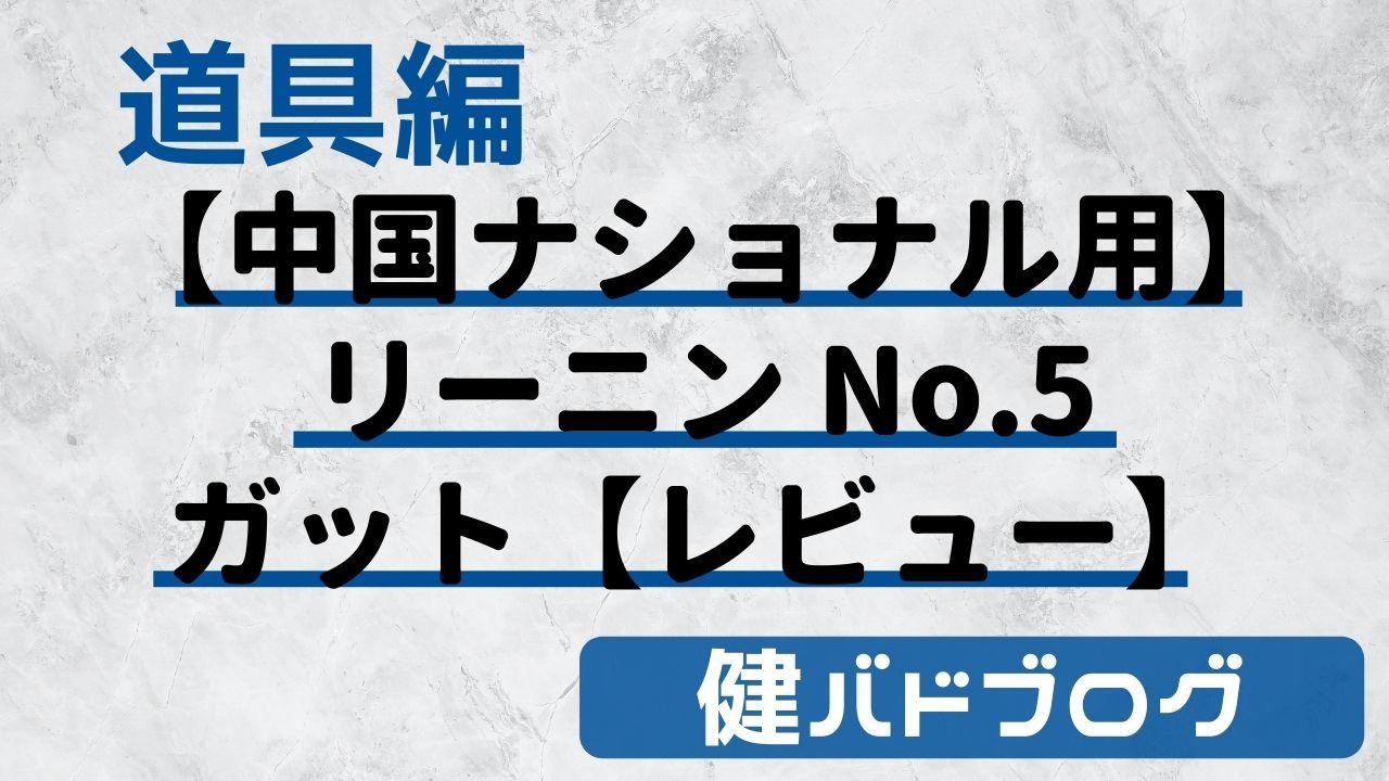 【中国ナショナル使用】リーニン ナンバー5(No.5)バドミントンガット【レビュー】