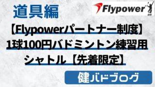 【Flypowerパートナー制度】1球100円安い!バドミントン練習用シャトル【先着限定】